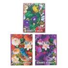 "Блокнот А5, 40 листов на скрепке ""Цветы"", 4 вида микс"