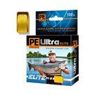 Леска плетёная Aqua Pe Ultra Elite M-8 Yellow, d=0,14 мм, 150 м, нагрузка 10,1 кг