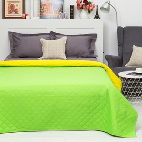Покрывало Этель Ультрастеп Краски сна, размер 150х215 см, цвет желто-зелёный,90 г/м2