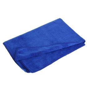 Салфетка для автомобиля, микрофибра, толстая, 40х60 см, синяя