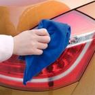Салфетка для автомобиля TORSO, микрофибра, толстая, 40х60 см, синяя