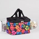 Косметичка-сумочка на молнии, с ручками, 1 отдел, цвет чёрный