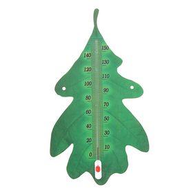 Деревянный термометр 'Дубовый лист' 29см Ош