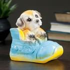 """Копилка гипс """"Собачка в ботинке"""" 12 см"""