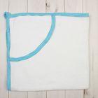 Полотенце-уголок, размер 80х80 см, цвет белый/голубой ЯВ108248