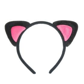 """Карнавальный ободок """"Ушки"""", цвет розовый"""
