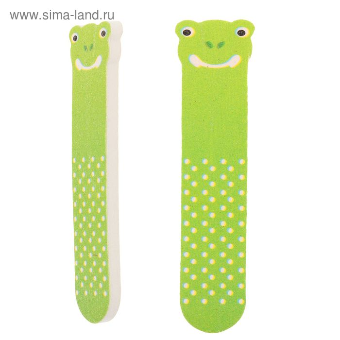 Пилка наждачная для ногтей, абразивность 180/180, 9см, цвет МИКС