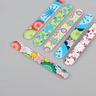 Пилка наждачная для ногтей, абразивность 180/180, 15см, цвет МИКС