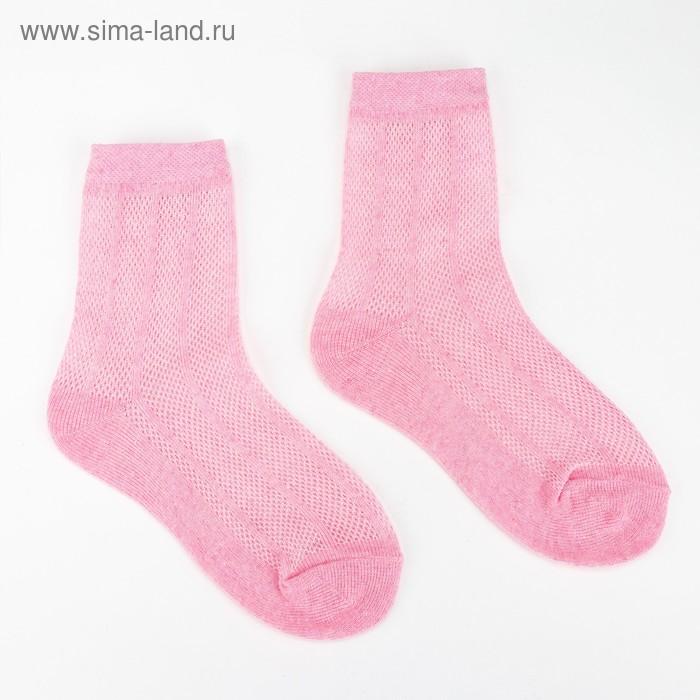 """Носки детские """"ЭкономьиЯ"""" р-р 18 (27-29) цвет розовый, 80% хл, 17% п/э, 3% эл."""