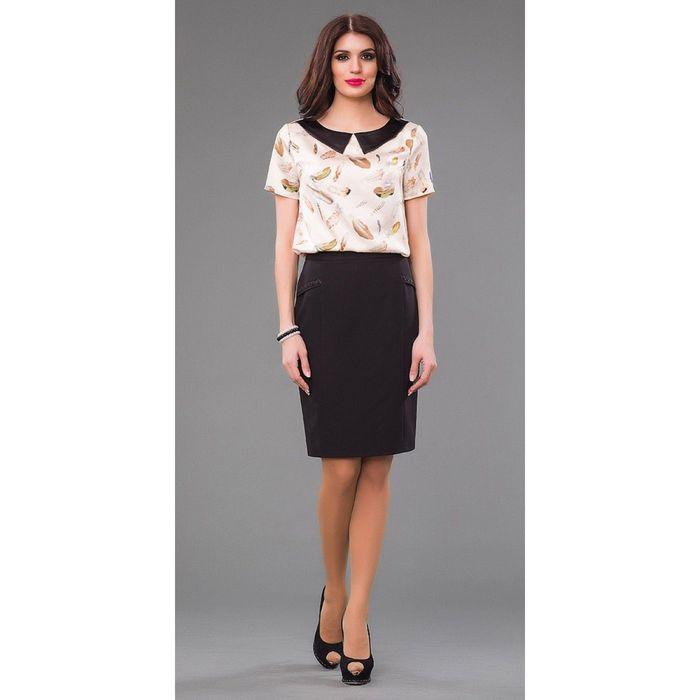 Блуза женская, размер 48, цвет кремовый 225-1
