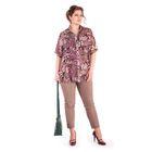 Блуза женская 17-m218-38, размер 52, цвет разноцветный