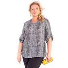 Блуза женская 17-mi25, размер 56, цвет чёрно-белый