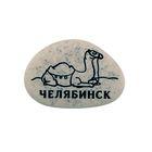 """Магнит в форме гальки с гравировкой """"Челябинск. Верблюд"""""""