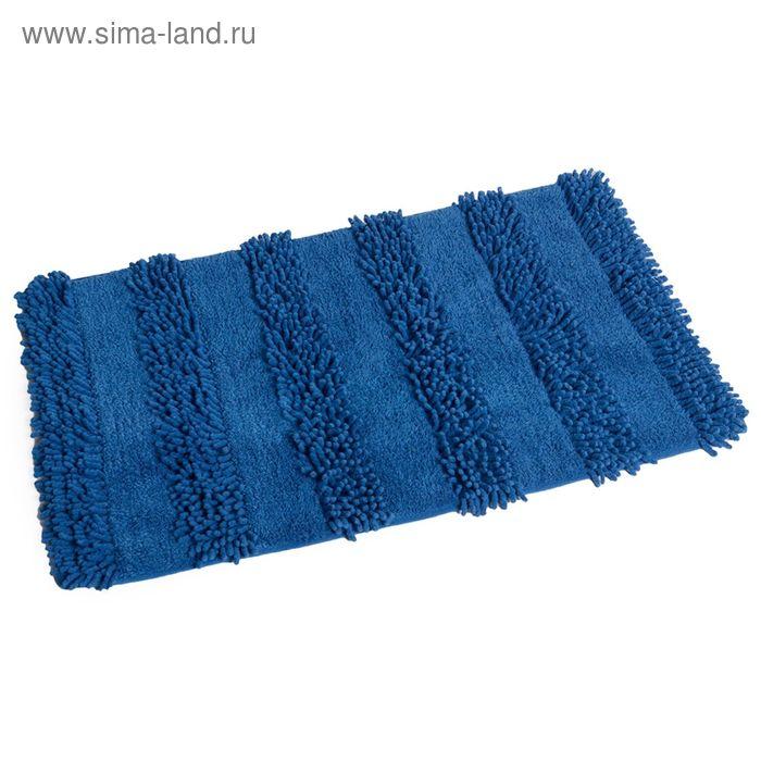 Коврик для ванной, комнаты 50х80 см Spark blue