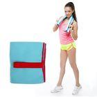Спортивное полотенце ONLITOP, размер 40х55 см, голубой, 200 г/м2