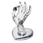 """Подставка для украшений """"Рука"""", 13*12*22см, основание сердце, цвет прозрачный"""
