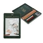 Карандаши художественный набор Faber-Castell PITT Monochrome 12 шт. в металлической коробке 112975