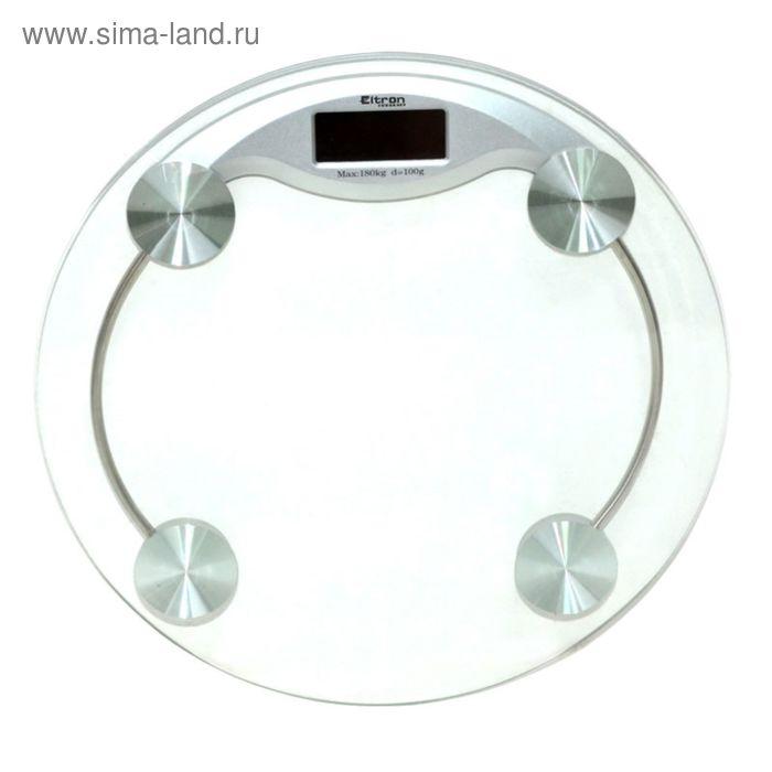 Весы напольные EL, электронные, круглые, 180 кг, 33 см