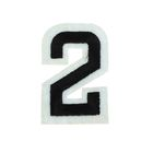 """Термоаппликация """"Цифра """"2"""", 5,1*3,3см, цвет чёрно-белый"""