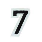 """Термоаппликация """"Цифра """"7"""", 5,1*3,4см, цвет чёрно-белый"""