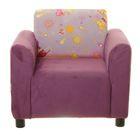 Кресло детское Велюр 61/Кот 2 компаньон, 59х55х47см, двп/дсп, поролон, меб.ткань