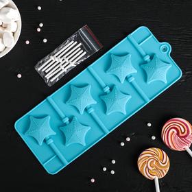 Форма для леденцов и мороженого 'Звездочет', 6 ячеек, цвета МИКС Ош