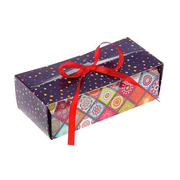 """Коробка для сладостей """"Лоскутки"""" 15 х 7 х 5 см"""
