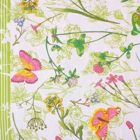 """Скатерть """"Доляна"""" Полевые цветы 145*144 см, 100% хлопок, рогожка, 164 г/м2"""