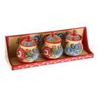 сувенирные солонки с городецкой росписью российских поставщиков