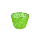 Кашпо, сизаль, круг, гиацинт светло-зелёная 7 х 10 см
