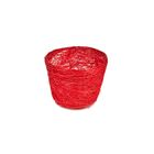 Кашпо, сизаль, круг, гиацинт ярко-красная 7 х 10 см