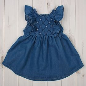 Платье для девочки, рост 98 см, цвет синий