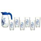 """Набор для воды """"Гжель"""", 7 предметов: кувшин 1,5 л, 6 стаканов 230 мл"""