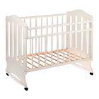 Детская кроватка «Чудо» на колёсах или качалке, цвет белый