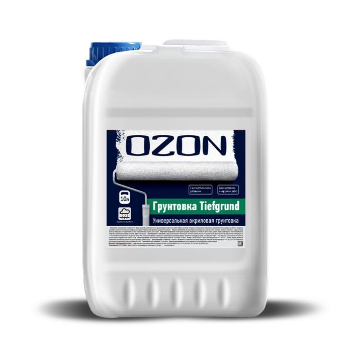 Грунтовка усиленная OZON ВД-АК 013М глубокого проникновения, акриловая 10 л