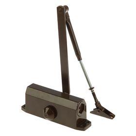 Доводчик дверной, до 60 кг, коричневый