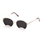 Перфорационные очки-тренажеры женские, золото
