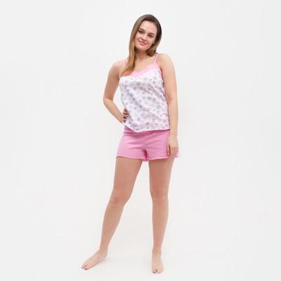 Пижама женская (майка, шорты) ПК25 МИКС, размер 42