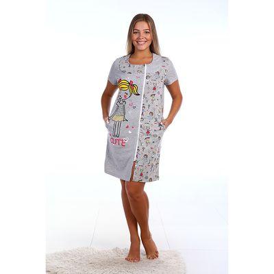 Халат женский на молнии, размер 46, цвет МИКС (арт. ХК149)