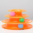 Игровой комплекс для кошек с 3 шариками, 24,5 х 24,5 х 13 см, (без картонной коробки)