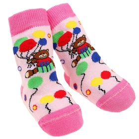 Носки детские НД1-2504, цвет светло-розовый, р-р 11-12 Ош