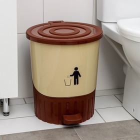 Ведро для мусора, с педалью 26 л, цвет МИКС