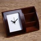 Набор настольный «Классика»: часы, визитница, подставка для ручек