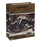 "Пакет подарочный ""Мотоцикл"", 26 х 10 х 32 см"