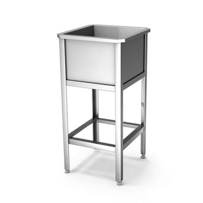 Ванна моечная-односекционная, н/ж сталь, 700x700x860