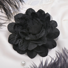 "Брошь ""Цветок дива"" цвет чёрный"