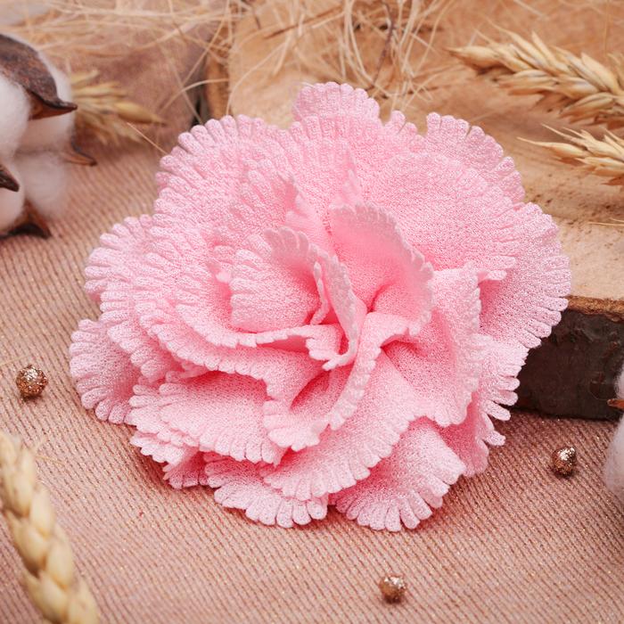"""Брошь """"Цветок дива"""" малая, цвет розовый"""