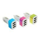 Автомобильное зарядное устройство 3 USB 1,1Ах2 и 2,1 А, МИКС