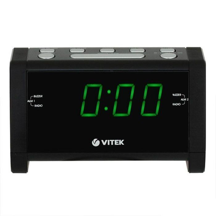 Радиобудильник Vitek VT-6608, FM, СВ, питание от сети, черный