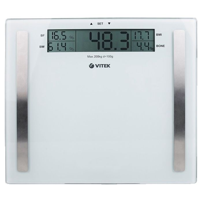Весы напольные Vitek VT-1967 W, электронные, диагностические, до 180 кг, белые